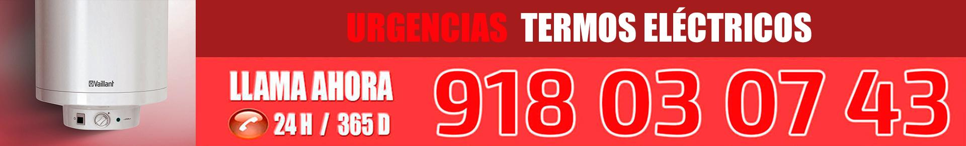 teléfono urgente reparación termos eléctricos en Alcalá de Henares